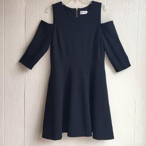 Eliza J Elegant Black Cold Shoulder Dress